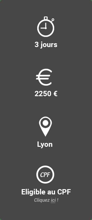 Prix, durée et lieux de la formation certification TLP Navigator Idéallis Lyon