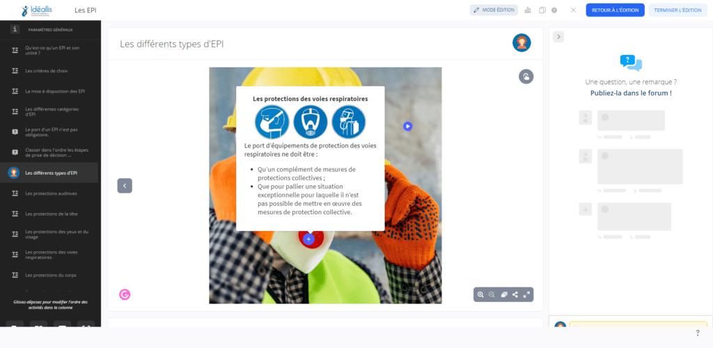 Plateforme 360 E-learning Idéallis
